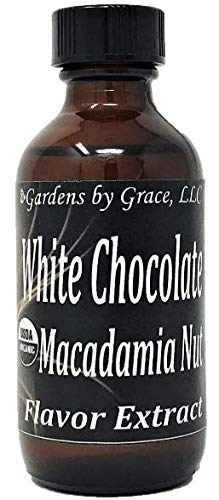 Macadamia Nut Ice Cream - Organic Flavor Extract White Chocolate Macadamia | Use in Gourmet Snacks, Candy, Beverages, Baking, Ice Cream, Frosting, Syrup and More | GMO-Free, Vegan, Gluten-Free, 2 oz