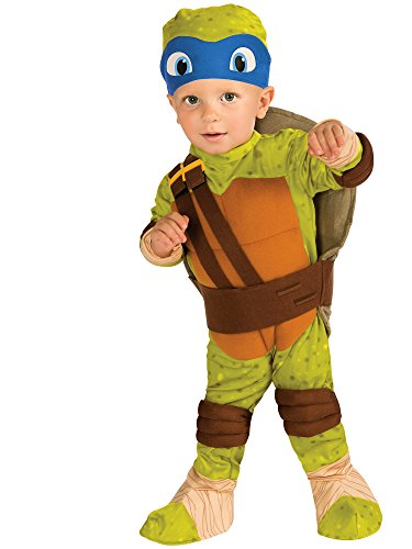 Nickelodeon Ninja Turtles Leonardo Romper Shell and Headpiece, Green, -