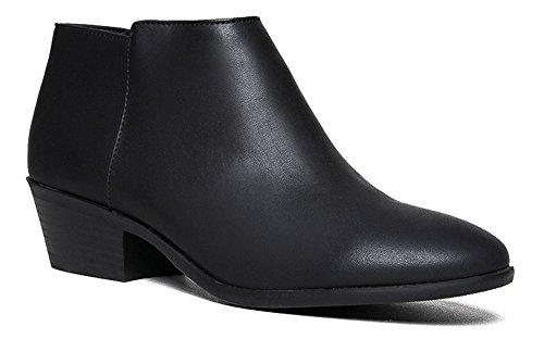 Western Ankle Boot- Cowgirl Low Heel Closed Toe Casual Bootie - Comfortable Walking Slip on Boot 9 (Eskimo Outfit)