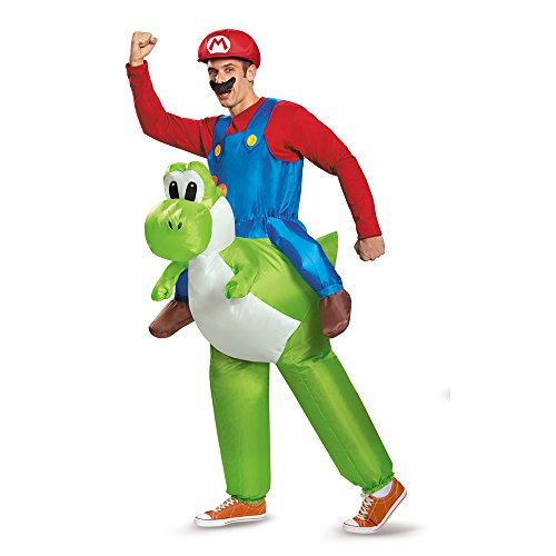 Disguise Men's Mario Riding Yoshi Adult Costume, Multi, One (Mario Costume Adult)