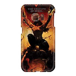 Excellent Hard Phone Cases For Samsung Galaxy S6 With Provide Private Custom HD Manowar Band Series TrevorBahri