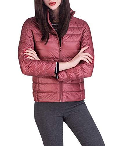 Casual Pink Classique Unie Warm Blouson Manches Femme Fit Hiver Elégante 1 Couleur Longues Taille Fashion Ultraléger Debout Slim Manteau Fille Col Doudoune Grande Transition SKABwaZq