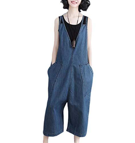 larghi pantaloni Keephen i comodo dimensioni selvaggi Blu di nuovo allentano estate grandi Le donne di pwC8gq