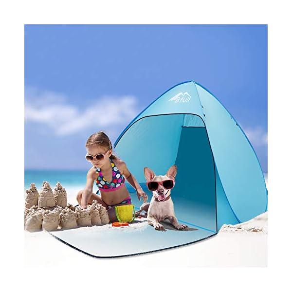 Bfull Tenda Da Spiaggia Per Esterni Portatile Con Protezione Solare Per 1 o 2 Persone, Apertura Istantanea Pop-up Colore… 4 spesavip