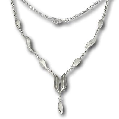 8bd78571dafa00 SilberDream Damen-Collier Kette Wave matt 925 Silber 45cm SDK410