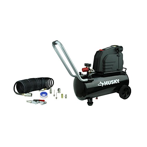 Husky 8 Gal. Portable Oil Free Electric Air Compressor With 12-Piece Accessory Kit, Making The Unit More Multi-Functional