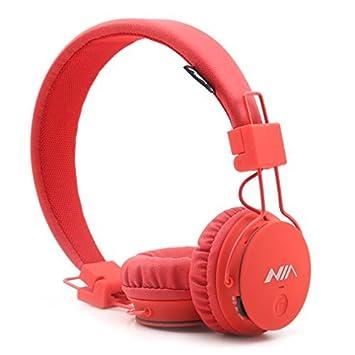 GranVela® X2 auriculares Bluetooth más de la oreja, plegable 4 en 1 estéreo niños