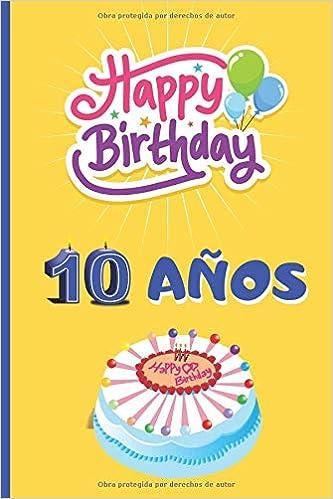 Amazon.com: 10 AÑOS: ¡FELICIDADES! REGALO DE CUMPLEAÑOS ...