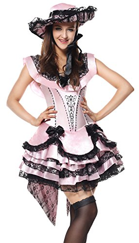 Halloween Costume Laurel Mac Circus Clown Magic Princess Trainer Lace Dress Hot Cosplay Party (Small)