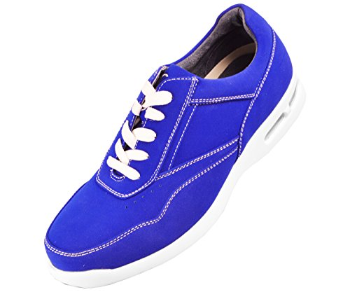 Blue Skipper Style Sneaker Top Low Faux Leather Sio Nubuck xwqpY0fw8
