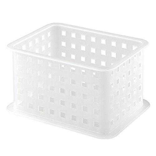 InterDesign Closet Storage Organizer Basket for Scarves, Socks, Belts, Clutch Purses - Frost