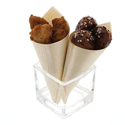 CiboWares Wooden Tasting Cone, 1.75