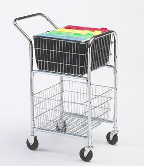 Charnstrom Compact Mail Cart with Bolt in File Baskets (M247)
