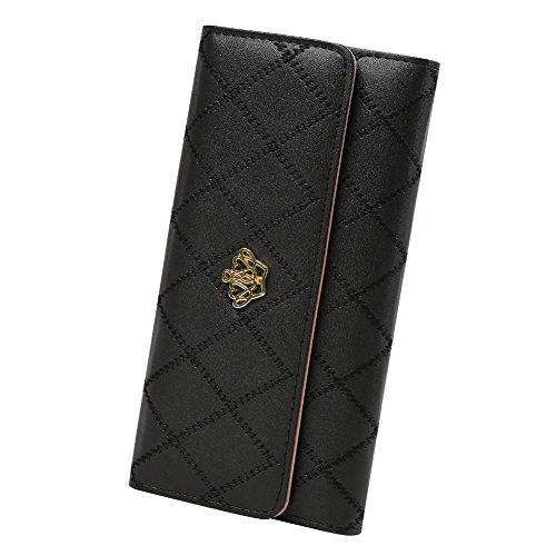 Women Fashion Leather Wallet Black - 1