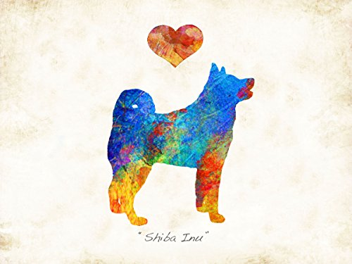 Shiba Inu Dog Breed Watercolor Art Print by Dan Morris