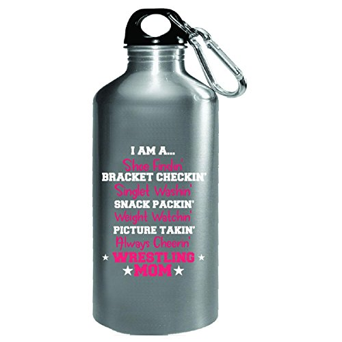 I Am A Wrestling Mom - Water Bottle by Katnovations