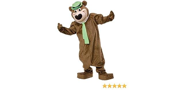 Professional New Brown Yogi Bear Mascot Costume Fancy Dress Adult Size