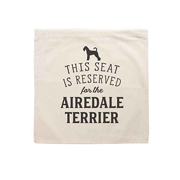 Affable Hound Reserved for The Airedale Terrier - Cushion Cover - Dog Gift Present 2