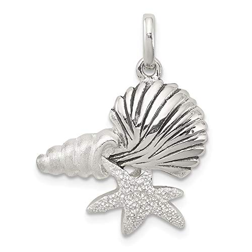 925 Sterling Silver/Sea Shell Mermaid Nautical Jewelrys Pendant Charm Necklace Shore Fine Jewelry Gifts For Women For ()