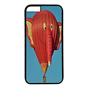 inVC Black PC Case Cover For iPhone 6 Plus Single Back Phone Shell Skin For iPhone 6 Plus With Red Elephant Air Ballon