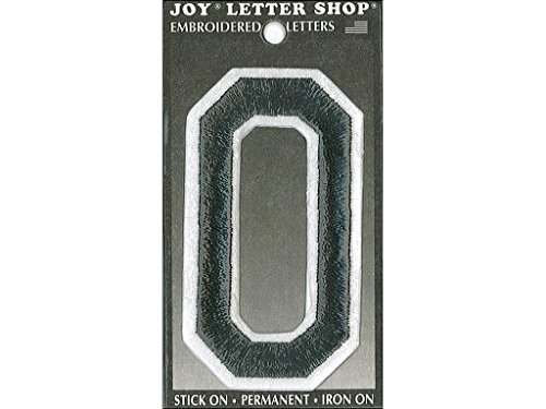 Joy JOY34015 Applique Letter Iron On Varsity Black O, (Varsity Applique)