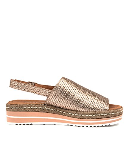 ADIDAH Shoes Wedges GOLD LEATHER Medium JULIETTE ROSE amp; DJANGO Summer Heels EMBOSSED Womens BqHfnw