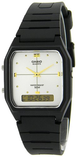 Casio #AE48HE-7AV Men's Analog Digital Dual Time Zone Watch
