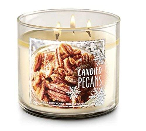 Bath and Body Works White Barn Candied Pecans 3 Wick Candle