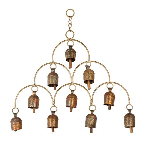 CRAFTSTRIBE Bell Hanging Copper Wind Chime Decorative Outdoor Ornament Garden Home