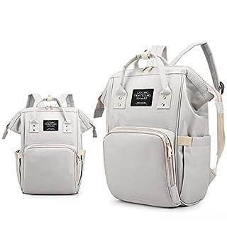 Multifunctional Travel Diaper Bag Large Capacity Portable Backpack,Gray