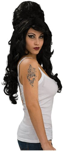 Ruby Women's Amy Winehouse Wig, Black, One Size -