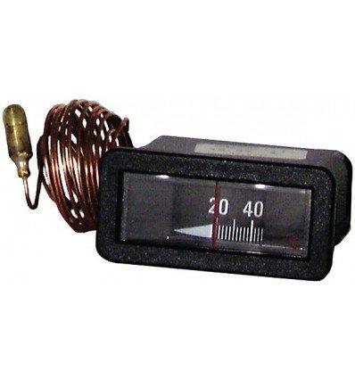 20/° bis +120/°C Rechteckiges Thermometer L 64mm x H 31mm Kapillar 1500 Expert by net