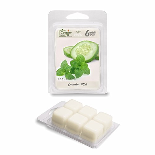Country Jar CUCUMBER MINT Soy Wax Melts for Warmers - 6 Tart Cubes - - HOT IN JULY SALE! BUY ANY 2 GET 3RD (Cucumber Mint Candle Scent)