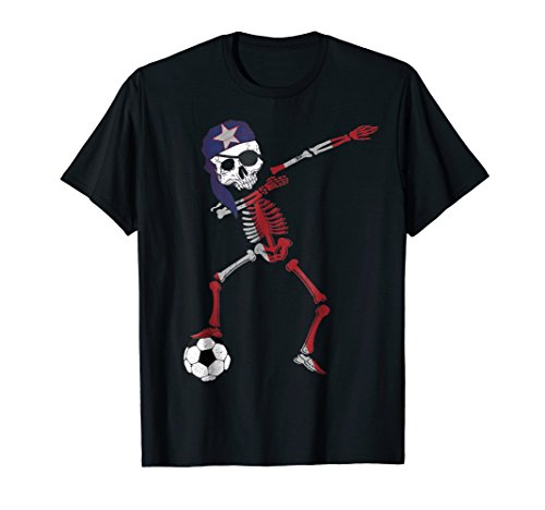 Puerto Rico Pirate Patriotic Dabbing Soccer Jersey Tee Shirt