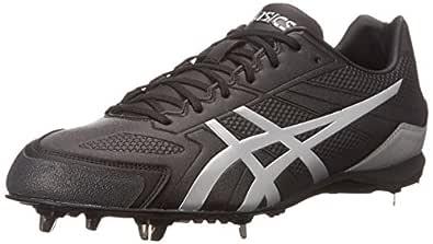 ASICS Men's Base Burner Baseball Shoe, Black/Silver, 8.5 M US
