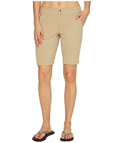 Womens Trail Short - Columbia Women's Saturday Trail Long Short, Water & Stain Resistant, British Tan, 8x10