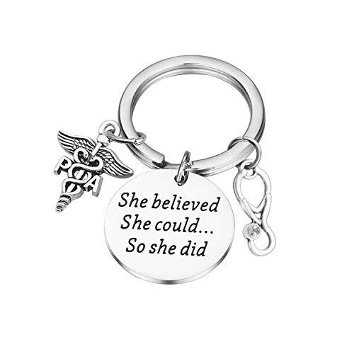 Lywjyb Birdgot She Believed Nurse PA Keychain (She Believed Nurse PA Keychain)