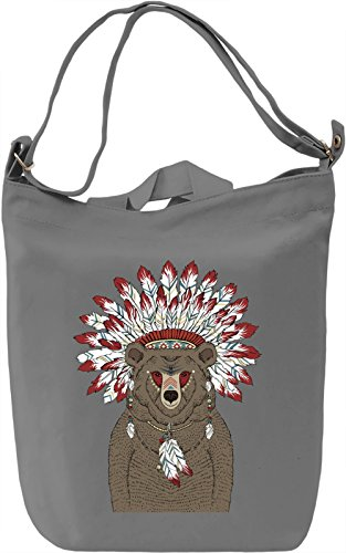 Indian bear Borsa Giornaliera Canvas Canvas Day Bag| 100% Premium Cotton Canvas| DTG Printing|