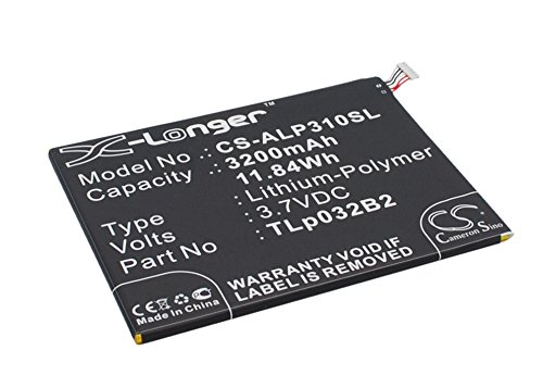 TLp032B2 Replacement Battery (3200mAh / 11.84Wh) For ALCATEL One Touch POP 7, P310A, (Touch One P310a Model Alcatel)