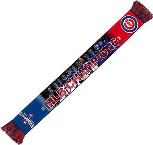 MLB Chicago Cubs 2016 World Series Champions Printed Photo Scarf, One Size, Blue