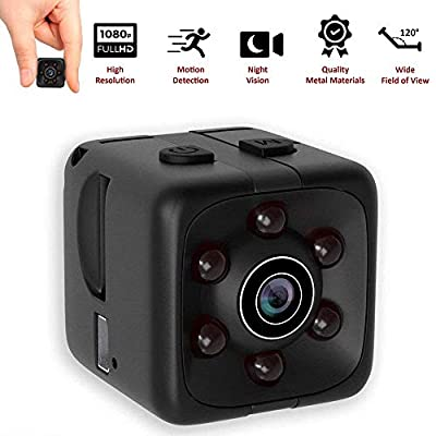 [New 2019 Model] ScarletPeak Mini Spy Camera Wireless, Hidden Camera 1080P with Motion Detection, Night Vision, Nanny Cam for Home, Secret Small Camera, Durable Metal Materials, No WiFi - 1 Cubic Inch by ScarletPeak