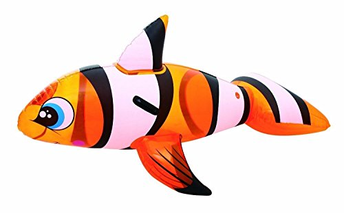 H2OGO! Clown Fish Ride On Inflatable Pool Float (Inflatable Clown)