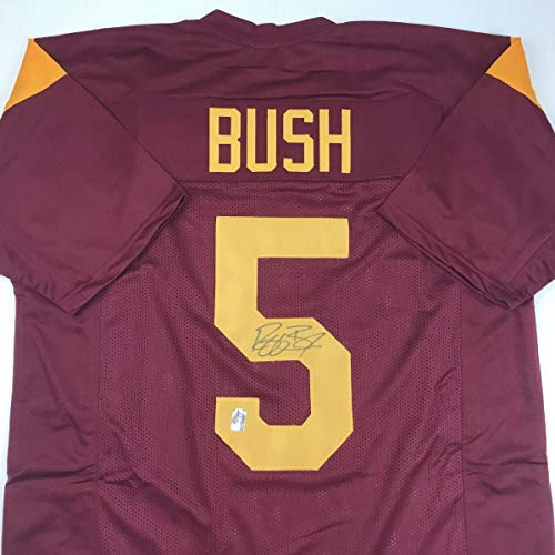 - Autographed/Signed Reggie Bush USC Southen Cal Maroon College Football Jersey GTSM COA