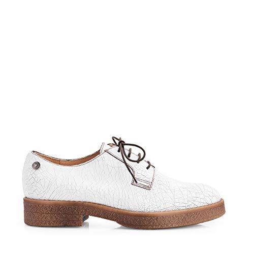 donna scarpa allacciata S65075 liu Bianco P027 Jo 6OwU11