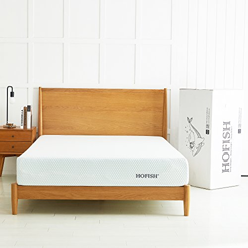 HOFISH 10 Inch Gel-infused Memory Foam Mattress, Universal Support & Enhanced Comfort, CertiPUR-US Certified, Green Tea Mattress, Full by HOFISH