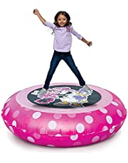 Minnie Mouse 2-in-1 Bouncer & Ball Pit with 20 Balls for Girls, Kids 55lbs Max