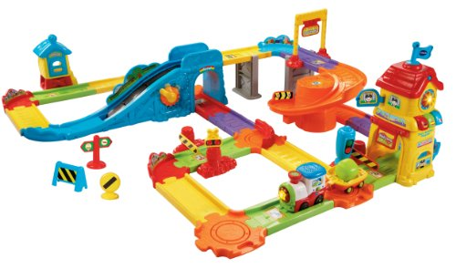 VTech Go! Go! Smart Wheels Train Station Playset (Geotrax Train Remote Control)