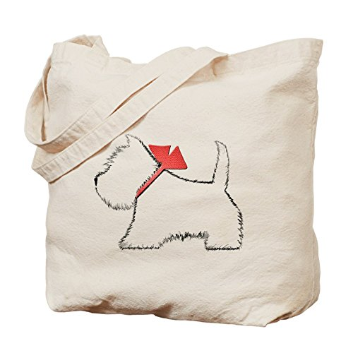 CafePress Westie Natural Canvas Shopping