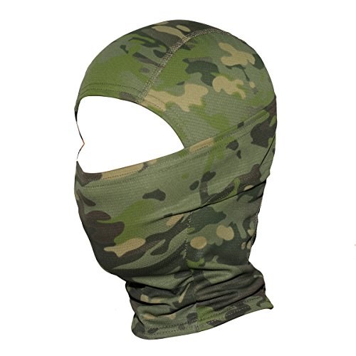 [JIUSY Camouflage Balaclava Hood Ninja Outdoor Cycling Motorcycle Hunting Military Tactical Helmet liner Gear Full Face Mask] (Halloween Costumes 03)