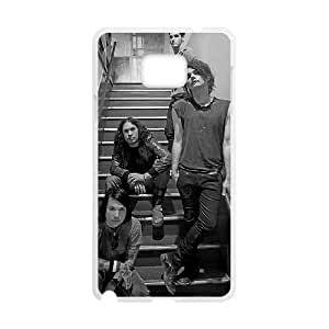 DAFUWENG(TM) Diy Customized Phone Case My Chemical Romance Pattern for samsung galaxy note 5 White